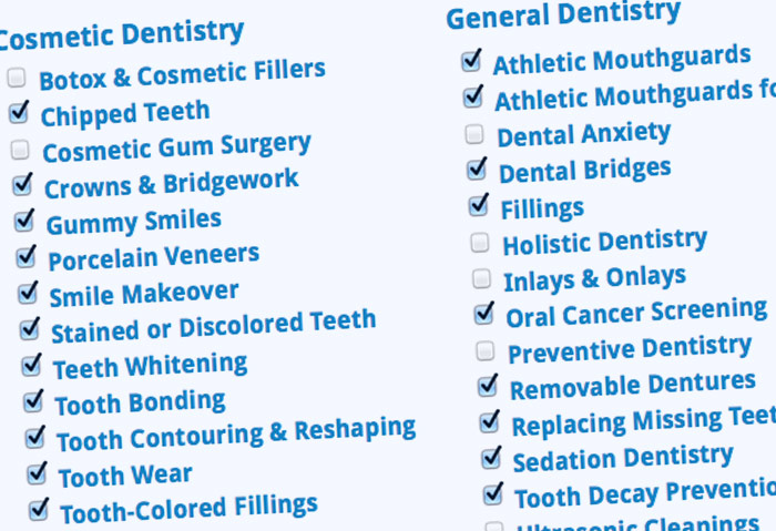 Select Treatment Categories